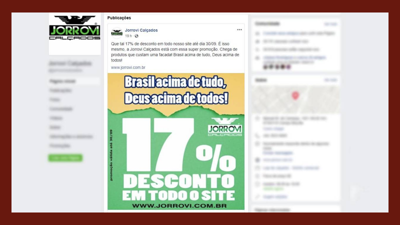 54e5d7344 Promoção de loja em Paranavaí pode terminar na justiça eleitoral. Ela está  dando 17%