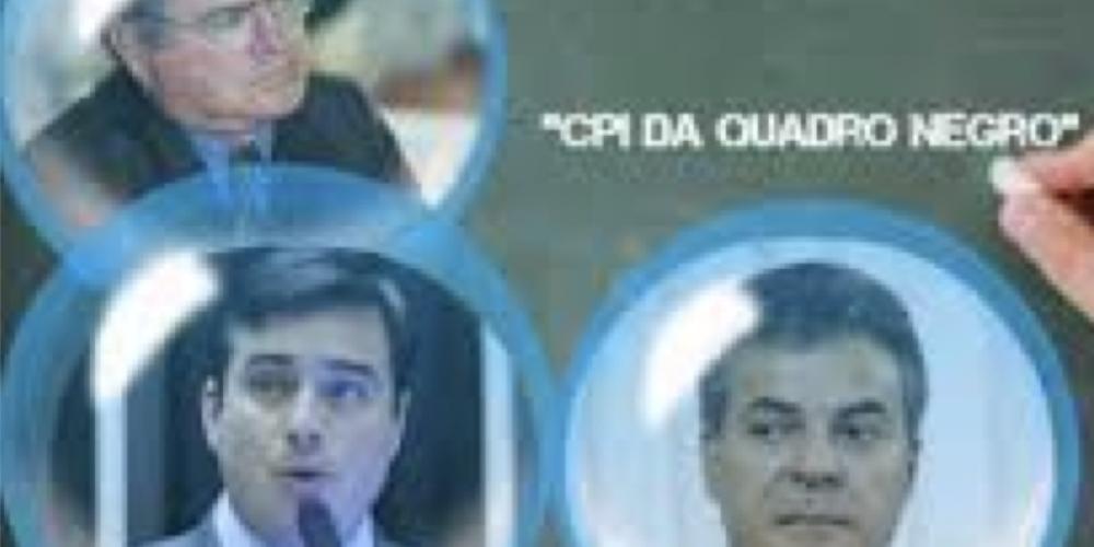 """Deputados federais do Paraná estão quase criando uma """"CPI do Quadro Negro"""", já que os parlamentares estaduais não conseguem enxergar nada errado…"""