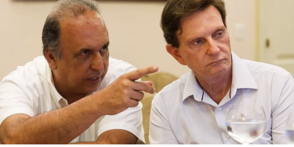 Eleições 2018. Para resolver os problemas do Brasil. Pezão presidente, Crivella vice. É o Brasil no caminho certo. Se é pra acabar, precisamos de líderes