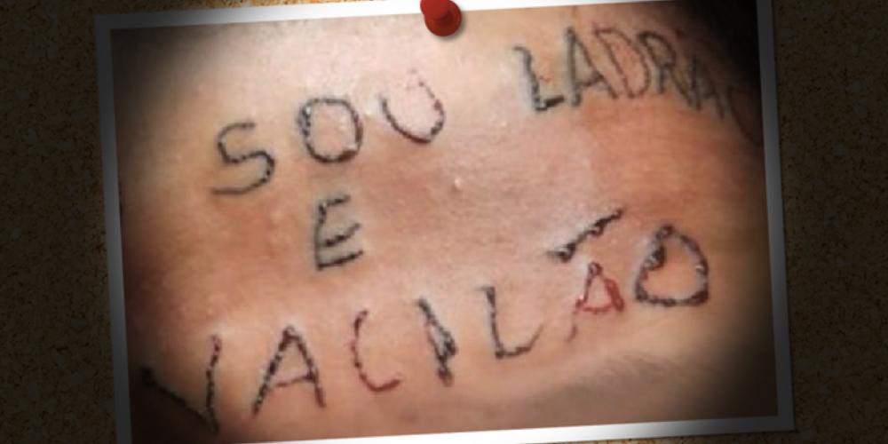 Lembra da dupla que tatuou a testa do adolescente? Foram condenados. A vítima passa por tratamento para o uso de drogas