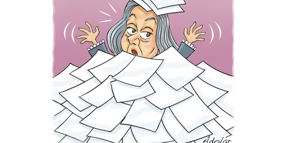 É trabalho demais. A presidente do STF está assim: Exausta e excessivamente cansada. Ela recebeu 309 pedidos de habeas corpus