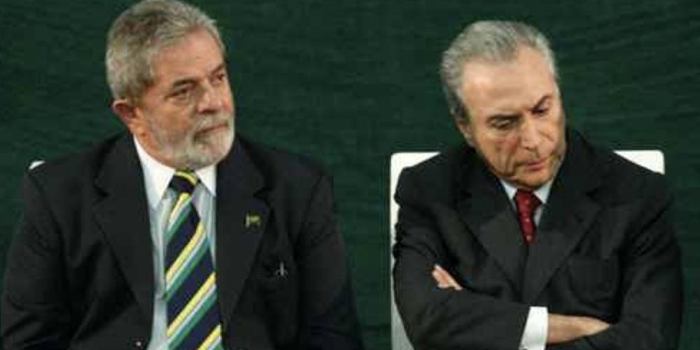 Michel Temer e Luiz Inácio Lula da Silva, juntos e bem misturados. Será que os dois sofrem das mesmas conspirações